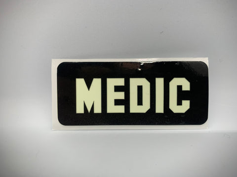 MEDIC REFLECTIVE GLOW IN THE DARK HELMET DECAL