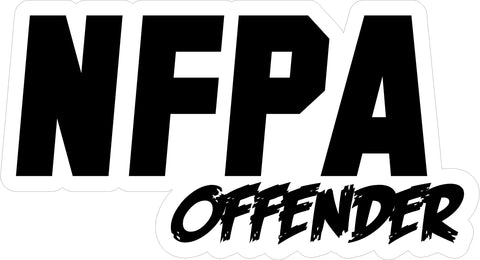 NFPA OFFENDER HELMET DECAL