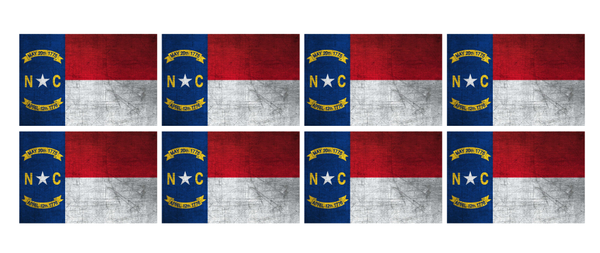 NORTH CAROLINA FLAG REFLECTIVE HELMET TRIM