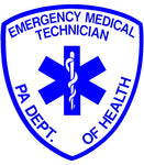 PENNSYLVANIA (PA) EMERGENCY MEDICAL TECHNICIAN (EMT) PATCH WINDOW DECAL