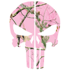 PINK WOODS CAMO PUNISHER SKULL REAR HELMET REFLECTIVE HELMET DECAL