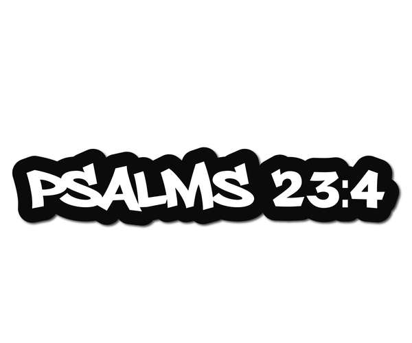 PSALMS 23.4 HELMET DECAL