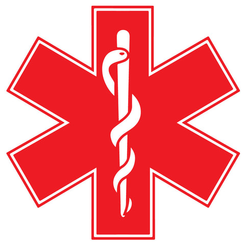 RED STAR OF LIFE REFLECTIVE HELMET DECAL