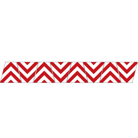 RED/WHITE CHEVRON STRIPE REFLECTIVE HELMET (TET) TETRAHEDRON 8 PACK