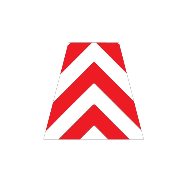 RED AND WHITE CHEVRON REFLECTIVE HELMET (TET) TETRAHEDRON