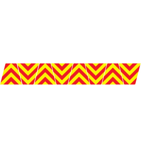 RED/YELLOW CHEVRON STRIPE REFLECTIVE HELMET (TET) TETRAHEDRON 8 PACK
