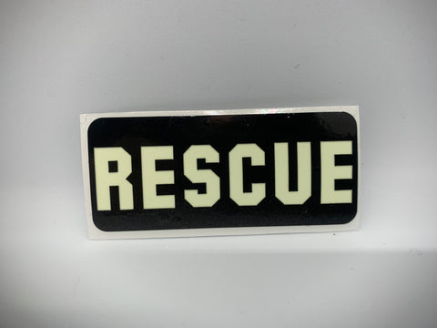 RESCUE REFLECTIVE GLOW IN THE DARK HELMET DECAL
