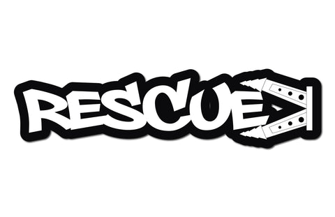 RESCUE HELMET DECAL
