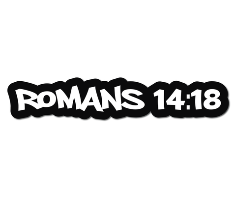 ROMANS 14:18 HELMET DECAL