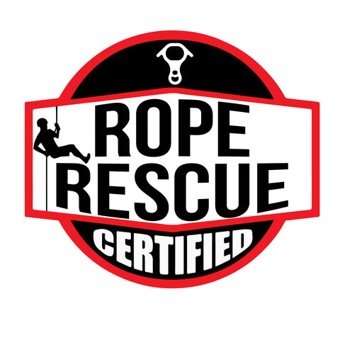 ROPE RESCUE CERTIFIED HELMET DECAL