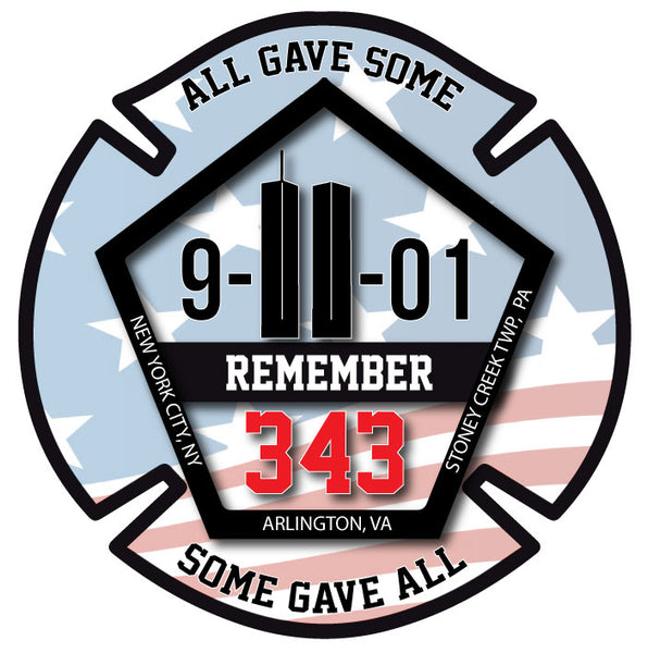 SEPTEMBER 11TH REFLECTIVE MEMORIAL HELMET DECAL