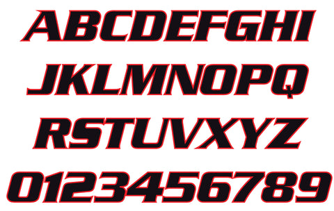 Serpentine Bold Reflective Letters & Numbers