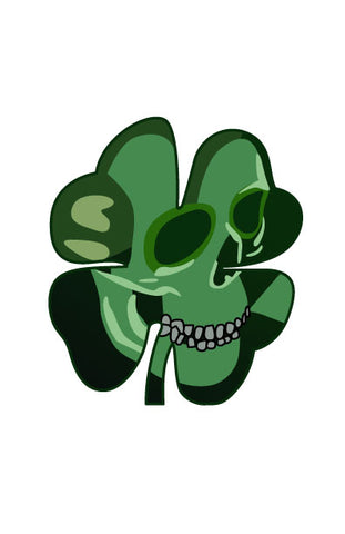 SHAMROCK SKULL HELMET DECAL