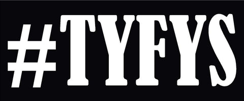 #TYFYS THANK YOU FOR YOUR SERVICE HELMET DECAL
