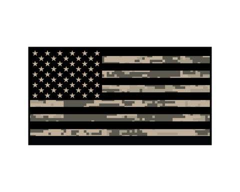 DIGITAL DESERT CAMO AMERICAN FLAG REFLECTIVE HELMET DECAL