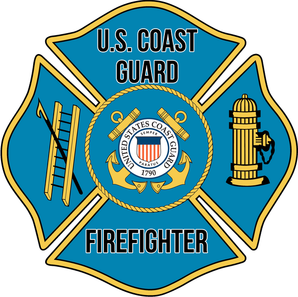 US COAST GUARD FIREFIGHTER WINDOW DECAL