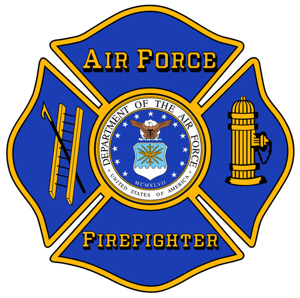 US AIR FORCE FIREFIGHTER WINDOW DECAL