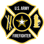 US ARMY FIREFIGHTER WINDOW DECAL