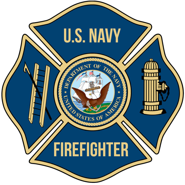 US NAVY FIREFIGHTER WINDOW DECAL