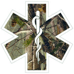 WOODS CAMO STAR OF LIFE REFLECTIVE WINDOW DECAL