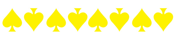 YELLOW REFLECTIVE ACE OF SPADE HELMET DECAL 8 PACK