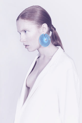 Lynne MacLachlan 3D Printed Phase Statement Earrings
