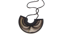 Load image into Gallery viewer, Phase Arc Necklace - Black & Gold