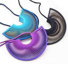 Load image into Gallery viewer, Phase Arc Necklace - Blue & Yellow