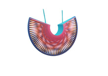 Load image into Gallery viewer, Phase Arc Statement Necklace - Pink/Turquoise/Yellow