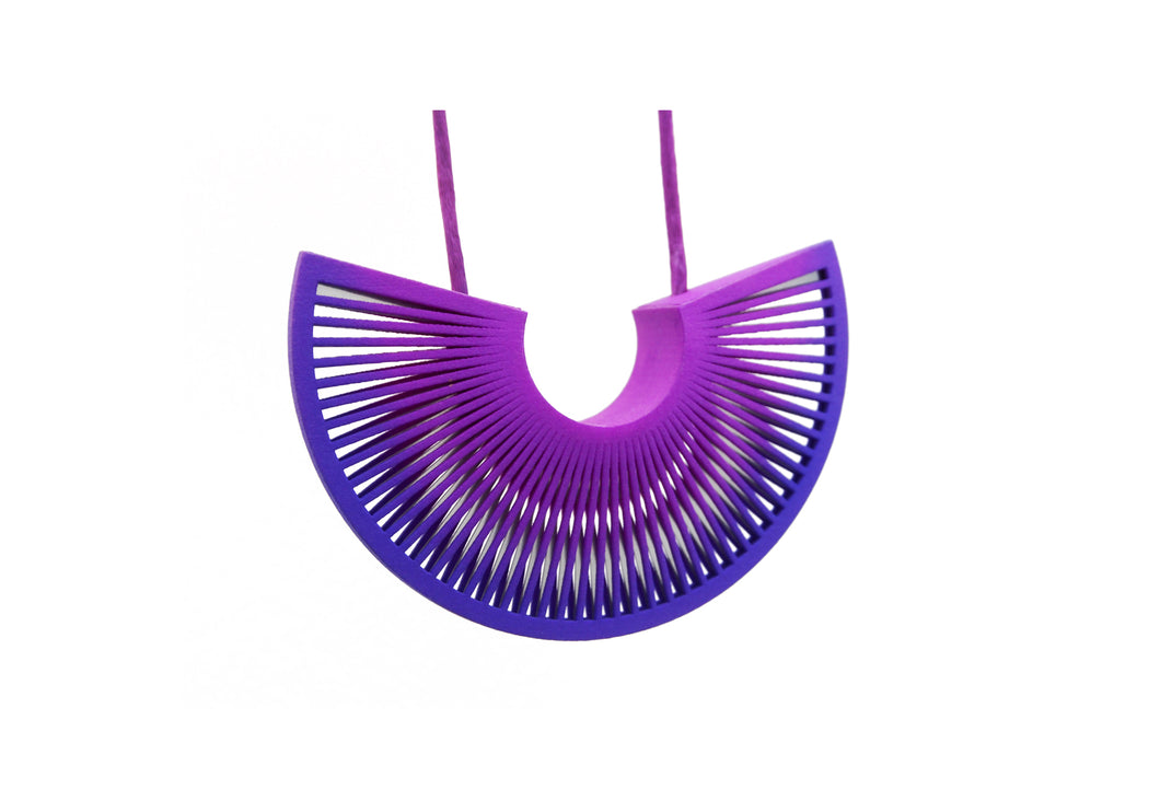 Phase Arc Necklace - Purple