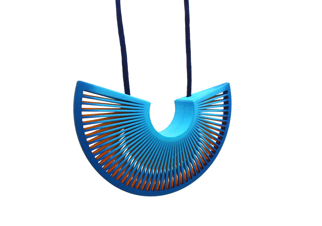 Phase Arc Necklace - Blue & Yellow