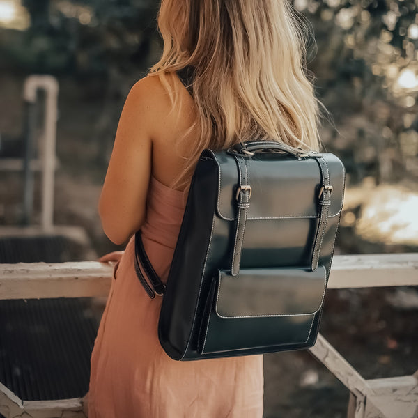 Threaded Flap Boutique Backpack - Green (Limited Edition)