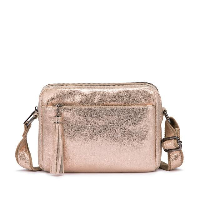 Glitter Leather Crossbody Bag