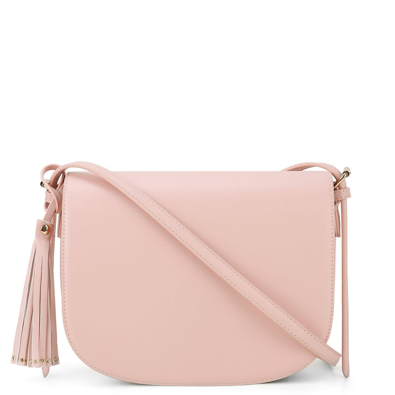 Full Flap Tassel Crossbody Bag