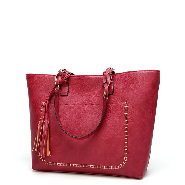 Embroidered Tassel Tote
