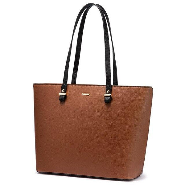 Black Handle Solid Tote