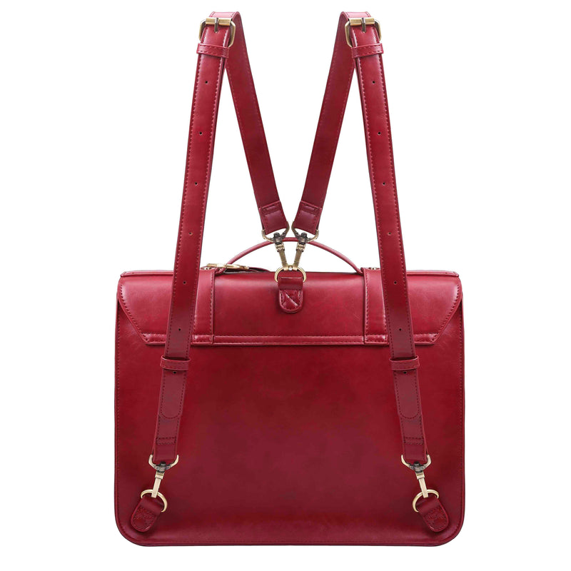 Detachable Bow Boutique Messenger Bag - Wine Red (Limited Edition)
