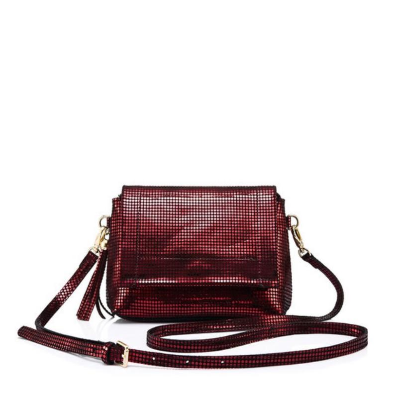 Plush Leather Crossbody Bag