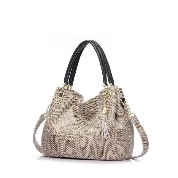 Serpentine Classic Leather Shoulder Bag