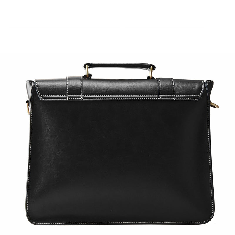 Mini Retro Flap Boutique Messenger Bag - Black (Limited Edition)