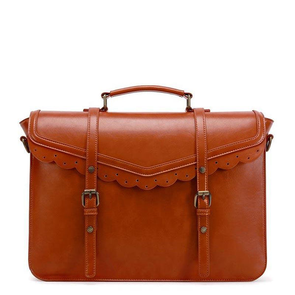 Trimmed Flap Vintage Briefcase - Brown (Limited Edition)