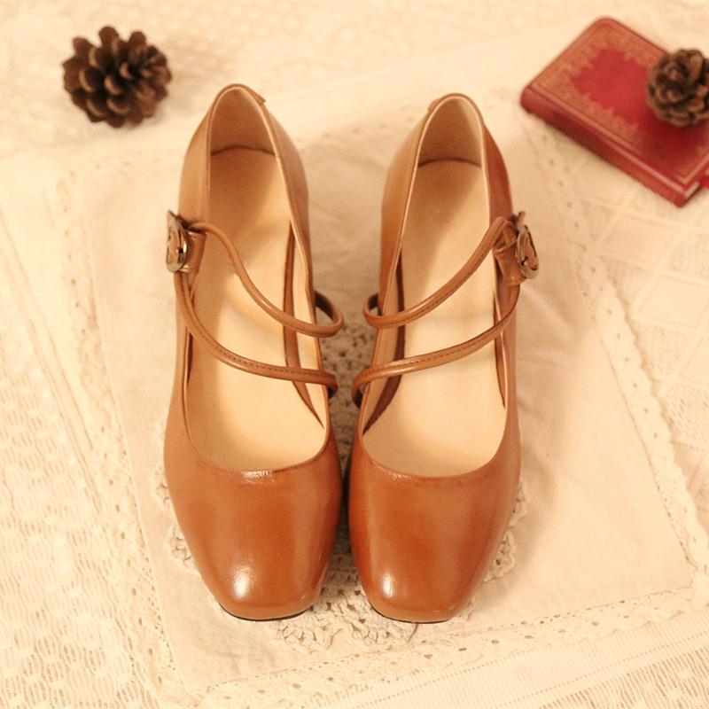 Square Toe Retro Heels