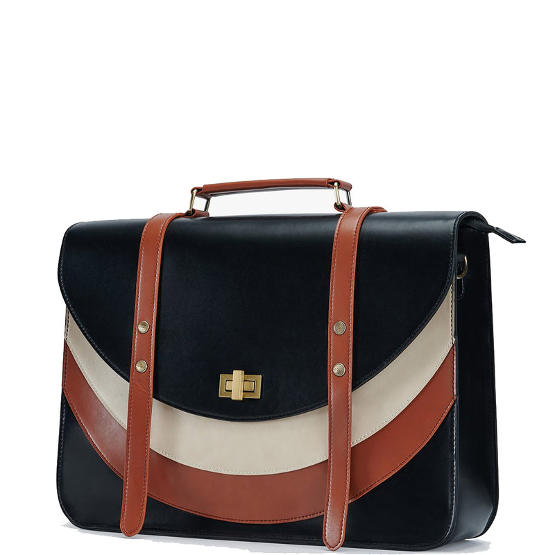 Tricolor Front Boutique Messenger Bag