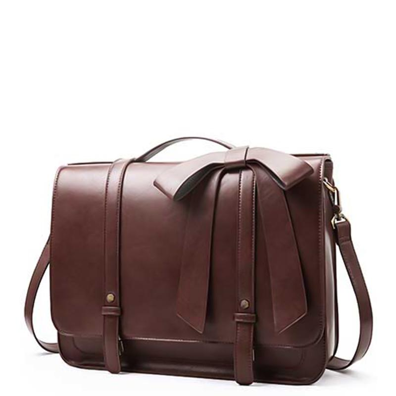 Detachable Bow Boutique Messenger Bag - Coffee (Limited Edition)