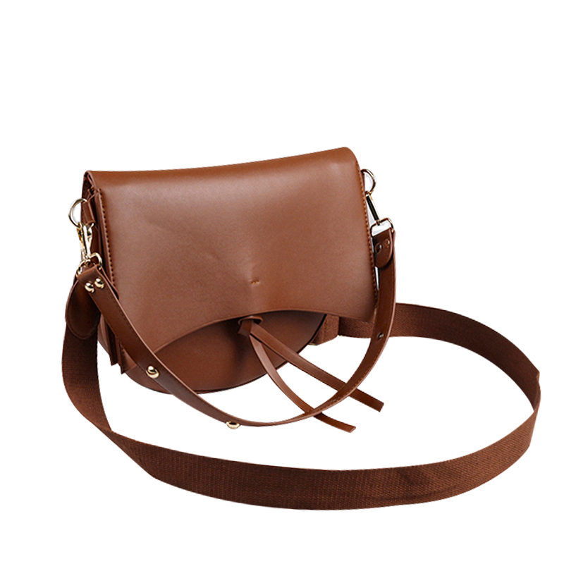 Matte Saddle Crossbody Bag