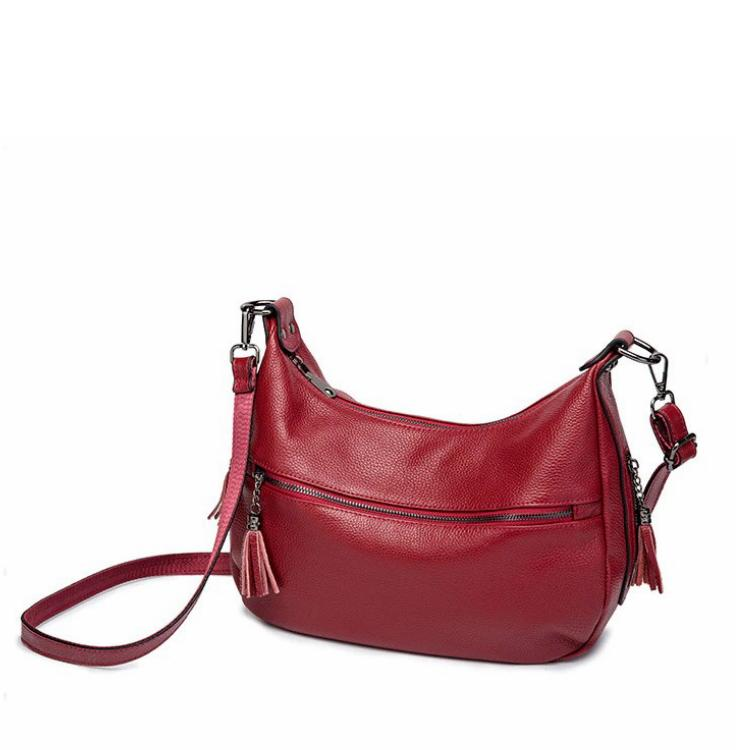 Classic Leather Shoulder Bag