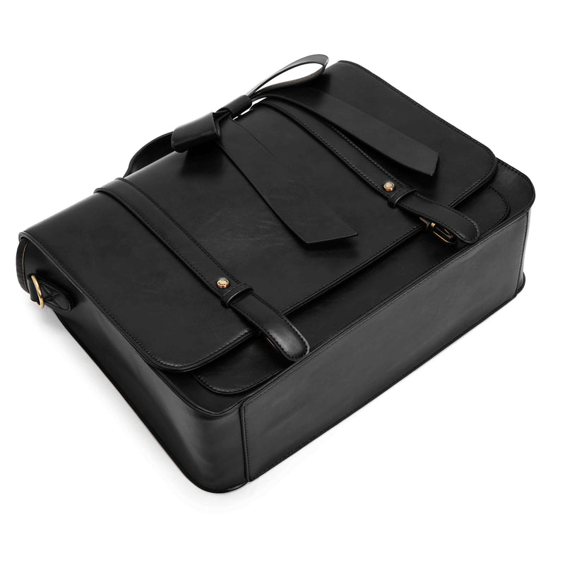 Detachable Bow Boutique Messenger Bag - Black (Limited Edition)