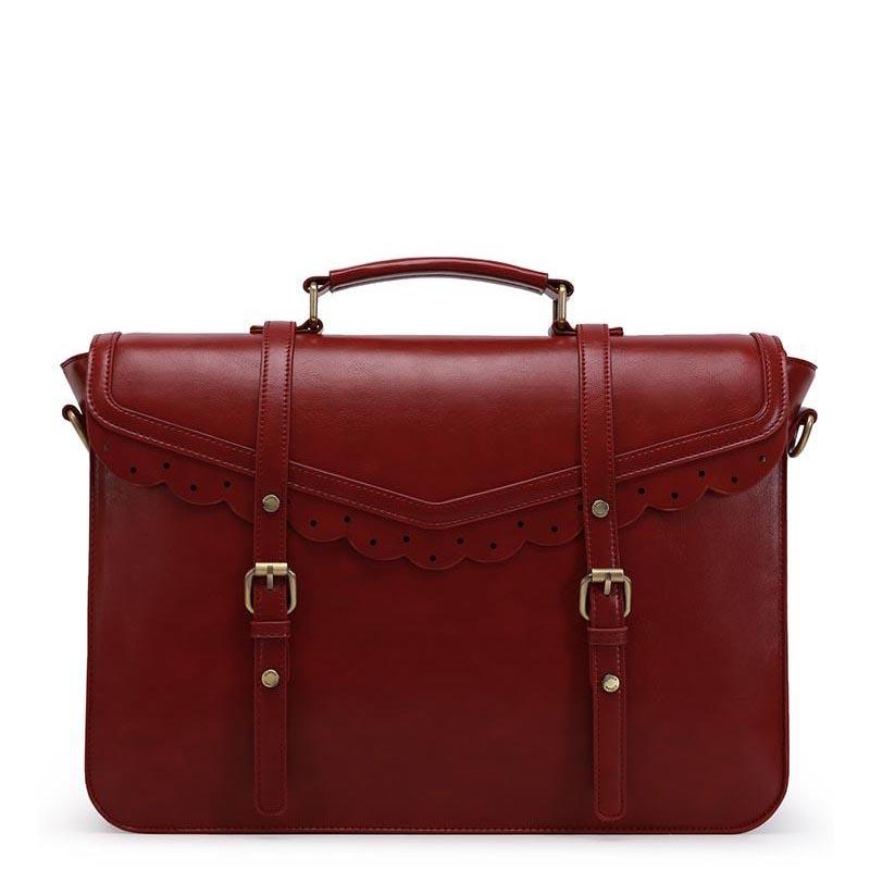 Trimmed Flap Vintage Briefcase - Red (Limited Edition)