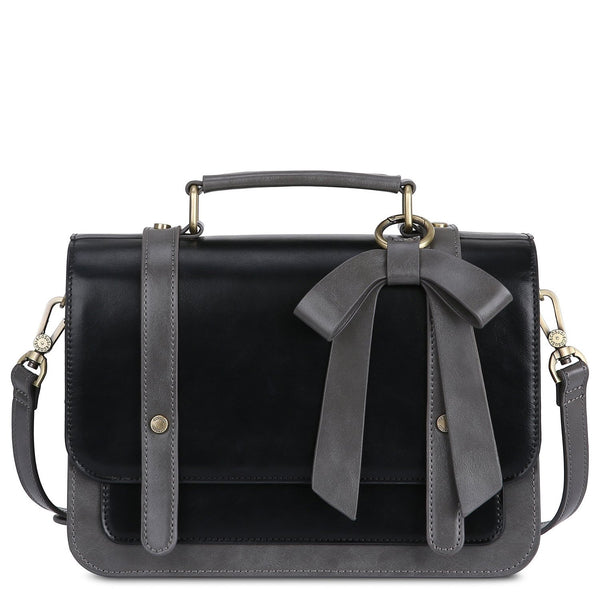 Vintage Bow Boutique Messenger Bag - Black (Limited Edition)
