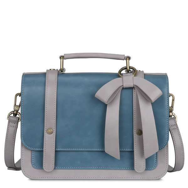 Vintage Bow Boutique Messenger Bag - Blue (Limited Edition)